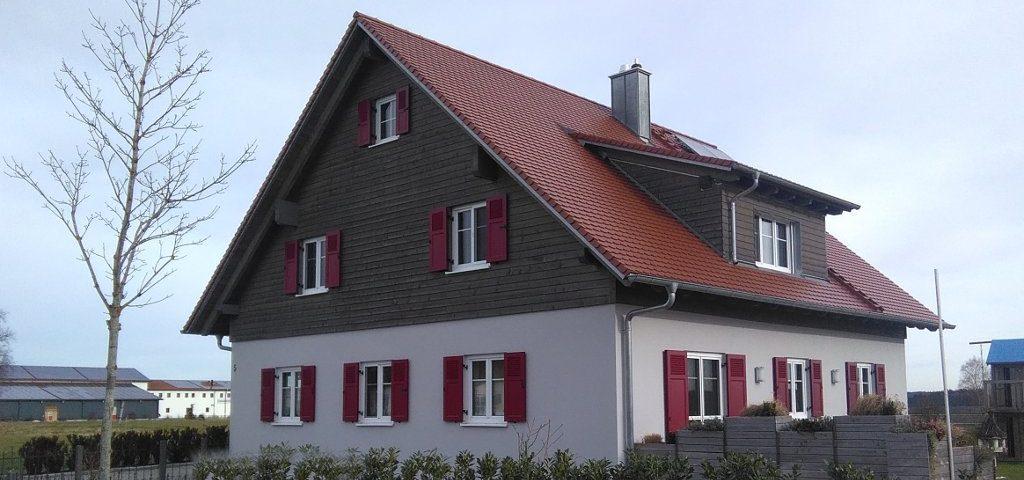 Referenz, Holzhaus Fassadenputz